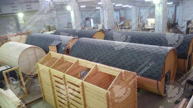 производство бань бочка